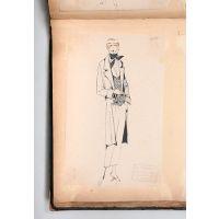 Album of original concept sketches for women's couture.