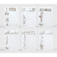 Six Minton porcelain nursery rhyme menu tiles.