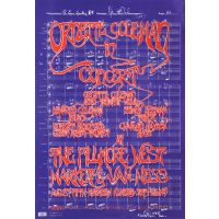 Ornette Coleman in Concert, August Fifth Nineteen Hundred Sixty-eight - original Fillmore West 1968 concert poster.