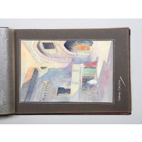 Sketches in Egypt, 1930 - an album of original watercolours.