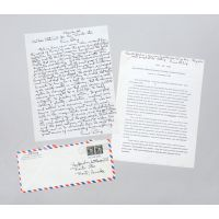 Autograph letter signed, and inscribed typescript speech, opposing the Vietnam War.