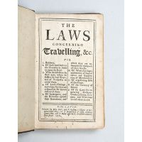 The Laws concerning Travelling, &c.