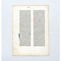 Fust and Schöffer 48-line Bible leaf.