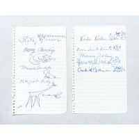 10 signatures by 10 US children's authors and illustrators.