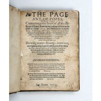 The Pageant of Popes, Contayninge the lyves of all the Bishops of Rome, from the beginninge of them to the yeare of Grace 1555.