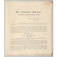 Subscription Form for the Livingstone Memorial at Chitambo's, British Central Africa.