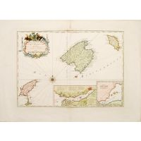 Carte des Isles de Maiorque Minorque et Yvicev