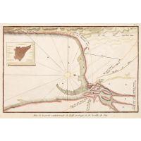 Plan de la septentrionale du Golfe arabique et de la ville Sues
