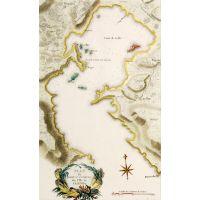Plan du Port St. Antoine sur l'ile de Lemnos.