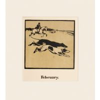 February - Coursing - An Almanac of Twelve Sports.