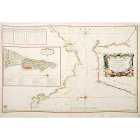 Carte du détroit de Gibraltar.