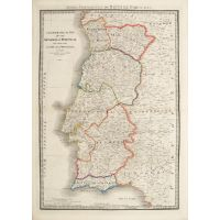 Chronographical Map of the Kingdom of Portugal Divided into its Grand Provinces.