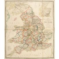 A Map of England, Wales, & Scotland describing all the Direct and principal Cross Roads in Great Britian, with the Distances measured between the Market Towns and From London.
