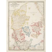 Map of the Kingdom of Denmark including the  Dutchies of Holstein and Lauenburg
