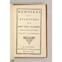 Mémoires et avantures de Madlle. Moll Flanders, écrits par elle-même.